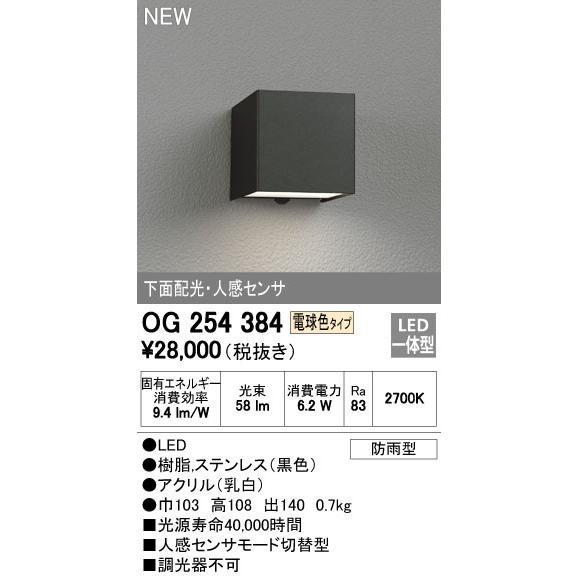 オーデリック エクステリアライト ポーチライト 【OG 254 384】OG254384
