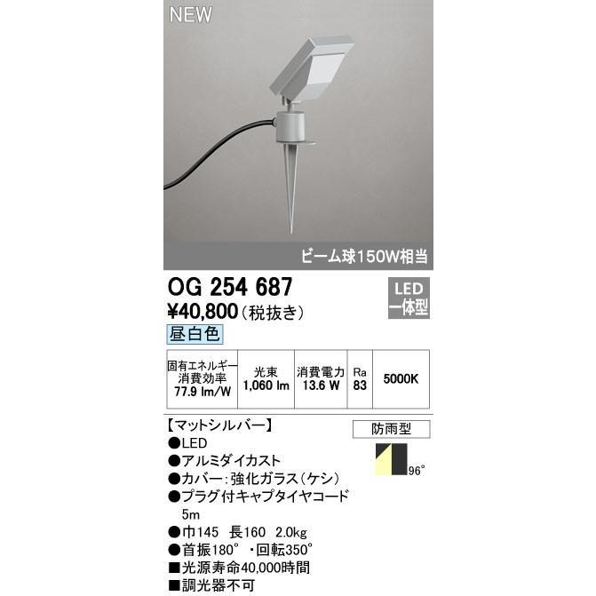 オーデリック スポットライト 【OG 254 687】 外構用照明 エクステリアライト 【OG254687】