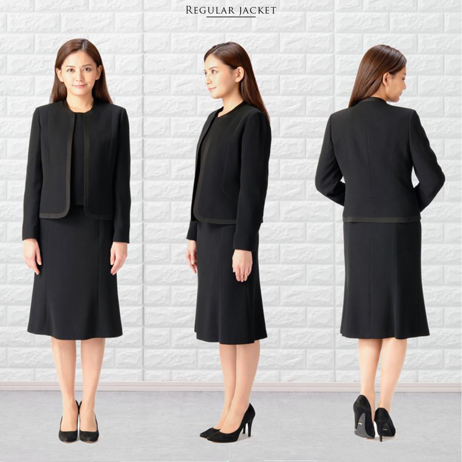 喪服 レディース  礼服 卒業式 入学式 ブラックフォーマル スーツ  女性 ママスーツ|marygold|16