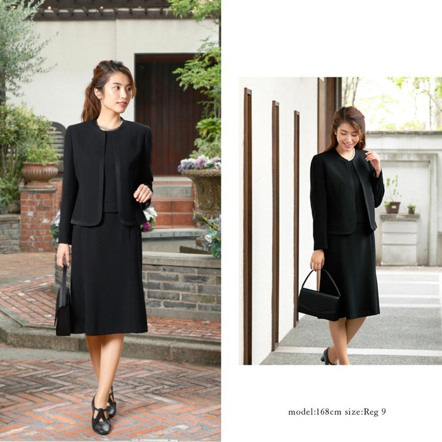 喪服 レディース  礼服 卒業式 入学式 ブラックフォーマル スーツ  女性 ママスーツ|marygold|09