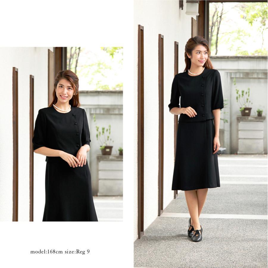 喪服 レディース  礼服 卒業式 入学式 ブラックフォーマル スーツ  女性 ママスーツ|marygold|10