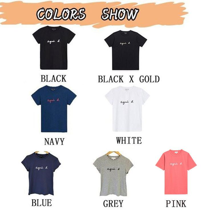 在庫処分 agnes b. アニエスベー  Tシャツ 半袖 カットソー ロゴTシャツ コットン   レディース メンズ  |masao-1120|02