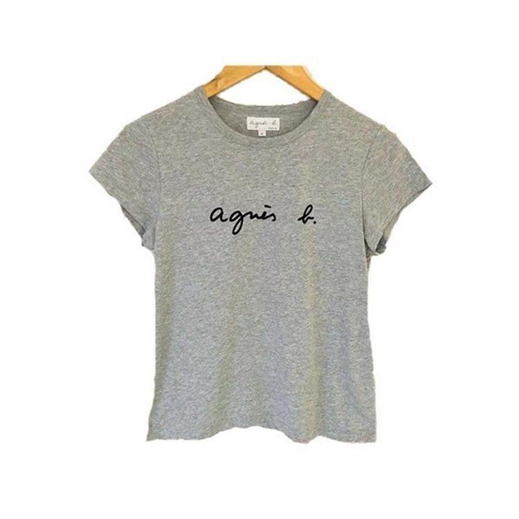 在庫処分 agnes b. アニエスベー  Tシャツ 半袖 カットソー ロゴTシャツ コットン   レディース メンズ  |masao-1120|11