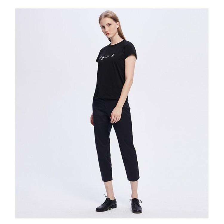 在庫処分 agnes b. アニエスベー  Tシャツ 半袖 カットソー ロゴTシャツ コットン   レディース メンズ  |masao-1120|03