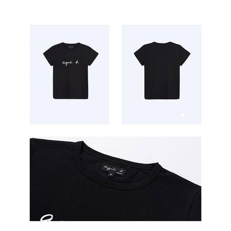 在庫処分 agnes b. アニエスベー  Tシャツ 半袖 カットソー ロゴTシャツ コットン   レディース メンズ  |masao-1120|06