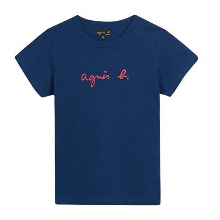 在庫処分 agnes b. アニエスベー  Tシャツ 半袖 カットソー ロゴTシャツ コットン   レディース メンズ  |masao-1120|08