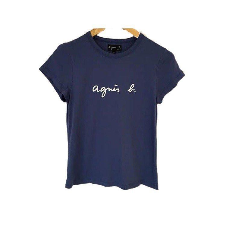 在庫処分 agnes b. アニエスベー  Tシャツ 半袖 カットソー ロゴTシャツ コットン   レディース メンズ  |masao-1120|10