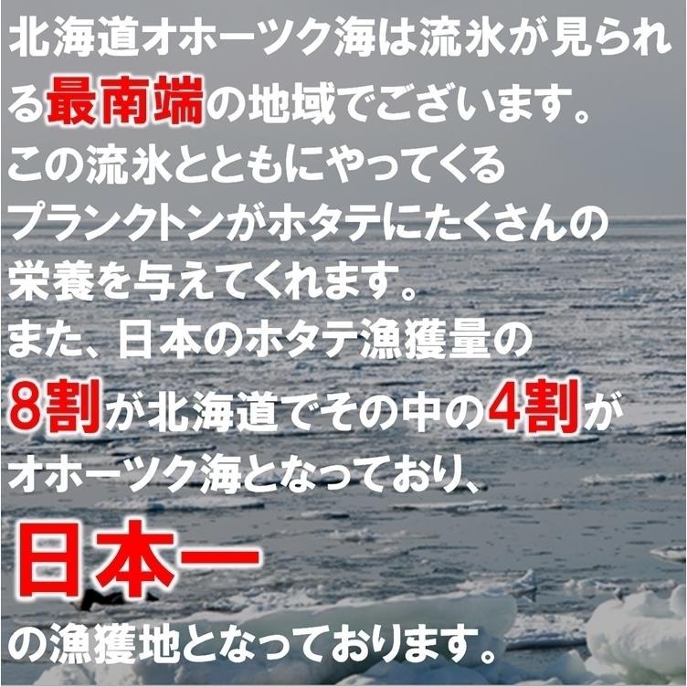 【料理に使いやすい】ホタテ貝柱 北海道産 化粧箱入 お刺身用 1kg 41-50粒入 中サイズ 3Sサイズ 送料無料 ギフト お取り寄せ|masaoshoten|06