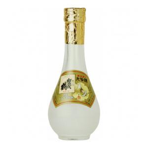【賀茂鶴酒造】日本酒 特製ゴールド賀茂鶴 180ml 丸瓶 桜の金箔入り|mashimo