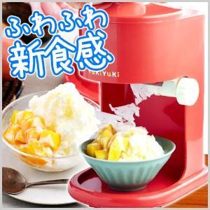 レシピ付き ウィズ WiZ かき氷機 YukiYuki ゆきゆき レッド かき氷器 手動 手動かき氷機 手動かき氷器 かき氷