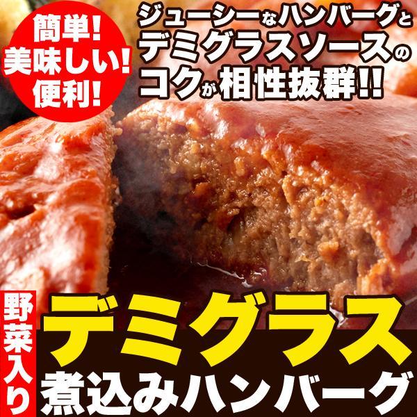 煮込みハンバーグ 野菜入りデミグラス 約200g3袋 ポイント消化 送料無料 ゆうパケット 国産 ハンバーグ レトルト|masuters-mart