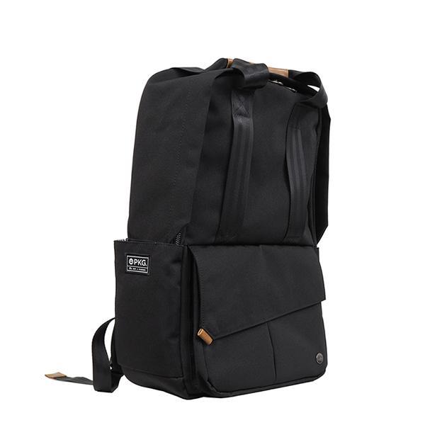 代理店保証付 PKG(ピーケージー) ROSSEAU MID  サイズ:H45.7cm W29.2cm D12.7cm/容量:19L ※本体ブラック持ち手等革付属部分は、茶色です※ masuya-bag 02
