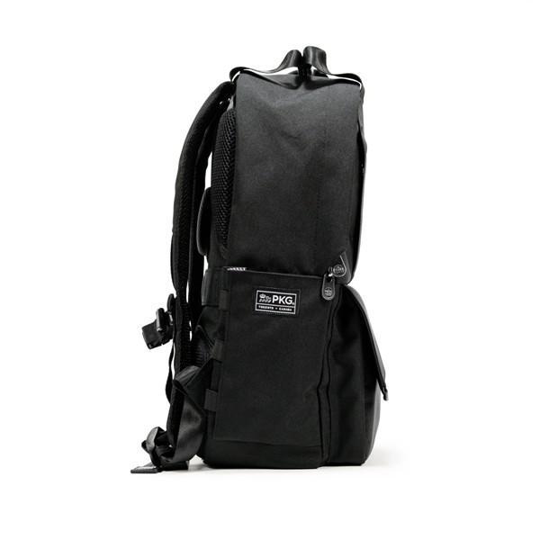 代理店保証付 PKG(ピーケージー) ROSSEAU MID  サイズ:H45.7cm W29.2cm D12.7cm/容量:19L ※本体ブラック持ち手等革付属部分は、茶色です※ masuya-bag 12