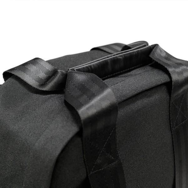 代理店保証付 PKG(ピーケージー) ROSSEAU MID  サイズ:H45.7cm W29.2cm D12.7cm/容量:19L ※本体ブラック持ち手等革付属部分は、茶色です※ masuya-bag 13