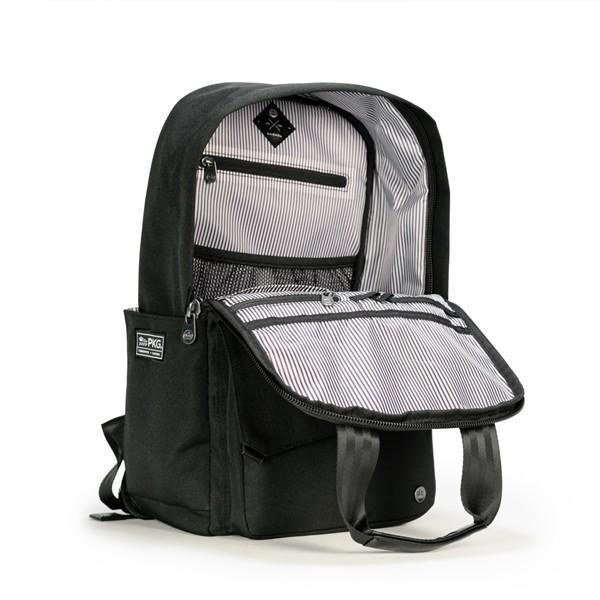 代理店保証付 PKG(ピーケージー) ROSSEAU MID  サイズ:H45.7cm W29.2cm D12.7cm/容量:19L ※本体ブラック持ち手等革付属部分は、茶色です※ masuya-bag 14
