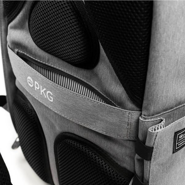 代理店保証付 PKG(ピーケージー) ROSSEAU MID  サイズ:H45.7cm W29.2cm D12.7cm/容量:19L ※本体ブラック持ち手等革付属部分は、茶色です※ masuya-bag 15
