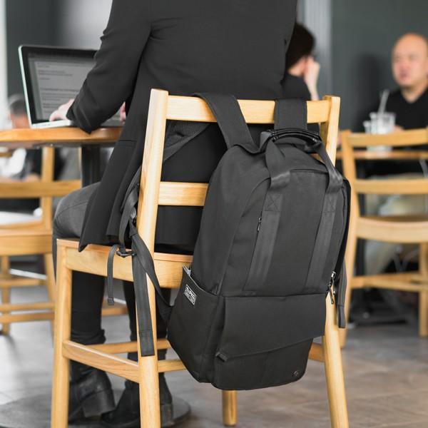 代理店保証付 PKG(ピーケージー) ROSSEAU MID  サイズ:H45.7cm W29.2cm D12.7cm/容量:19L ※本体ブラック持ち手等革付属部分は、茶色です※ masuya-bag 16