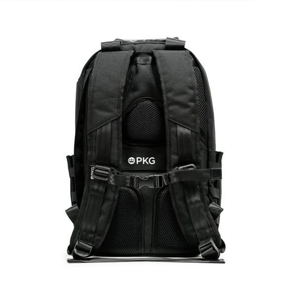 代理店保証付 PKG(ピーケージー) ROSSEAU MID  サイズ:H45.7cm W29.2cm D12.7cm/容量:19L ※本体ブラック持ち手等革付属部分は、茶色です※ masuya-bag 04