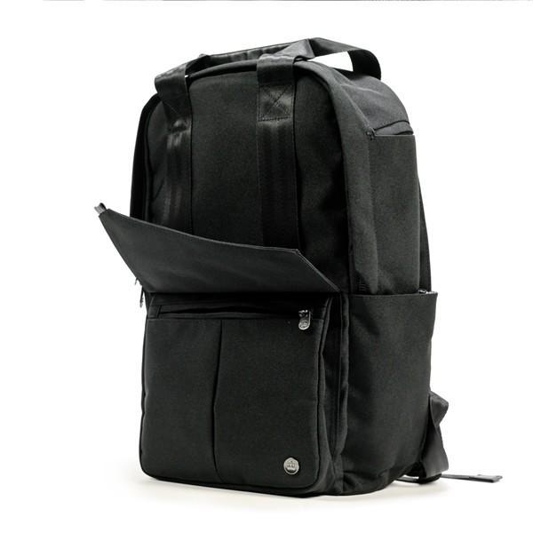 代理店保証付 PKG(ピーケージー) ROSSEAU MID  サイズ:H45.7cm W29.2cm D12.7cm/容量:19L ※本体ブラック持ち手等革付属部分は、茶色です※ masuya-bag 07