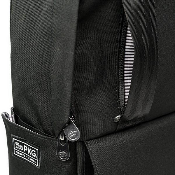 代理店保証付 PKG(ピーケージー) ROSSEAU MID  サイズ:H45.7cm W29.2cm D12.7cm/容量:19L ※本体ブラック持ち手等革付属部分は、茶色です※ masuya-bag 08