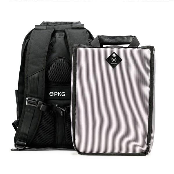 代理店保証付 PKG(ピーケージー) ROSSEAU MID  サイズ:H45.7cm W29.2cm D12.7cm/容量:19L ※本体ブラック持ち手等革付属部分は、茶色です※ masuya-bag 09
