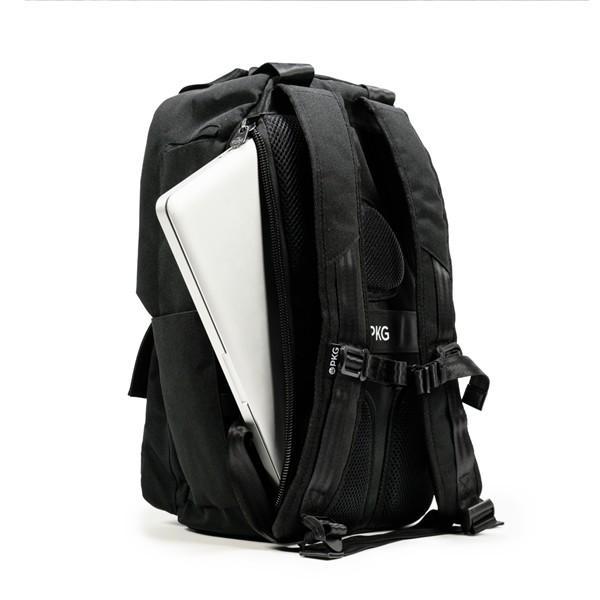 代理店保証付 PKG(ピーケージー) ROSSEAU MID  サイズ:H45.7cm W29.2cm D12.7cm/容量:19L ※本体ブラック持ち手等革付属部分は、茶色です※ masuya-bag 10
