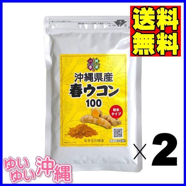 沖縄産 春ウコン 粉末 100g×2個|matayoshiyakusouen