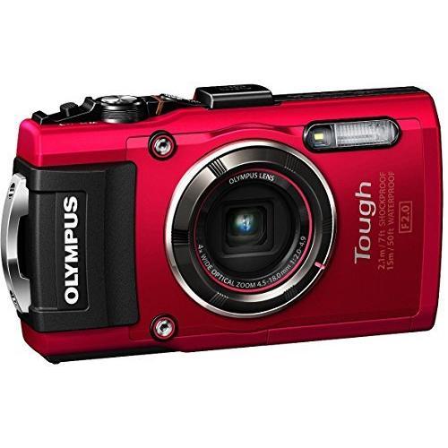 OLYMPUS デジタルカメラ STYLUS TG-4 Tough レッド 1600万画素CMOS F2.0 15m 防水 100kgf耐荷
