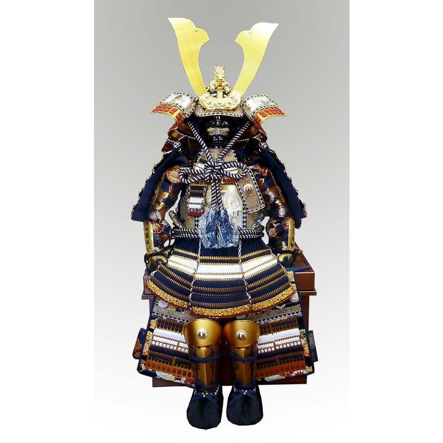 五月人形 子供着用鎧 紺白威し 5歳用 平安豊久鎧飾り 単品