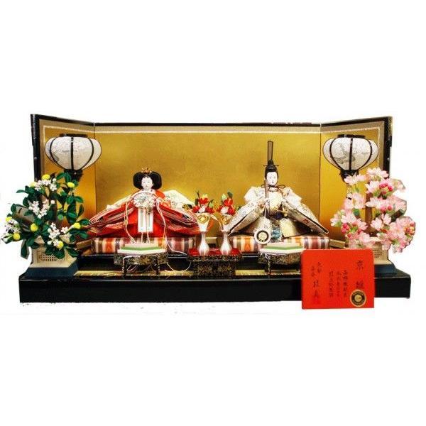 【送料無料】 雛人形 安藤桂甫作 京雛 親王飾り-季節玩具