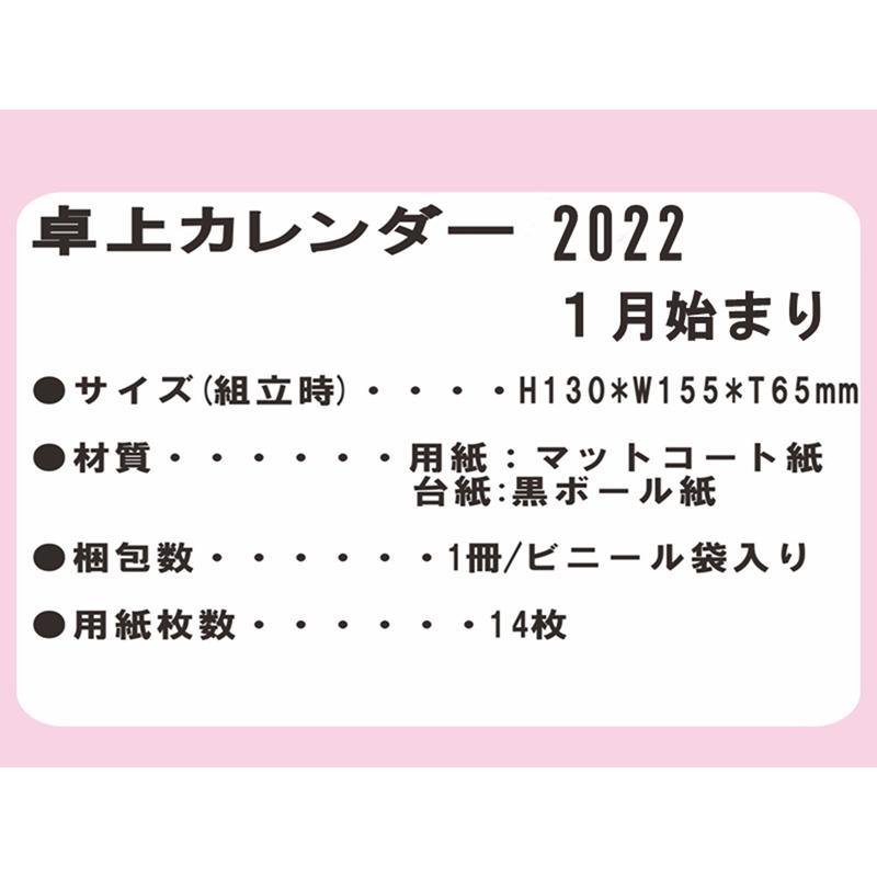 卓上カレンダー 2021年 1月始まり 3冊セット メール便送料無料|matsumura|03