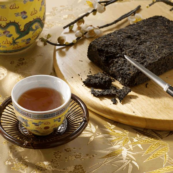 中国茶 健康茶 発酵茶 ギフト 金の花 茯磚茶(源)318g 年末年始セール中 matsurika-jp 02
