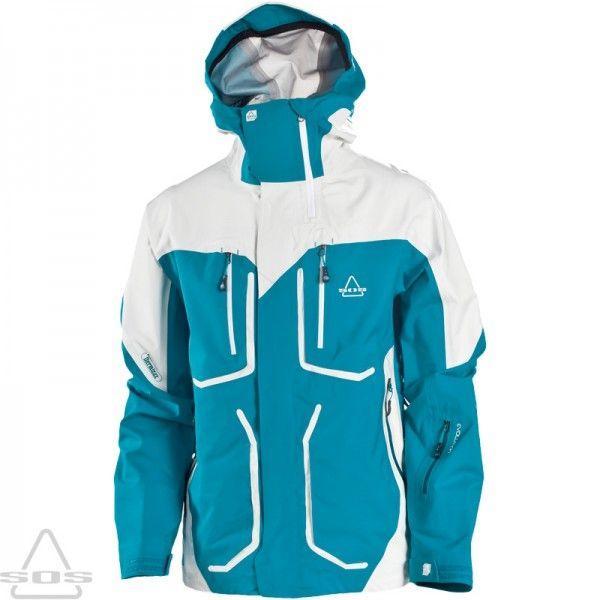 11-12 SOS【エスオーエス】スキーウェア Ms Sphere Jacket/DEEP GLACIER 白い SMOKE