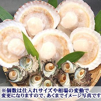 (送料無料)ホタテ(片貝)とサザエの海鮮バーベキューセット(冷凍)|matubagani|04