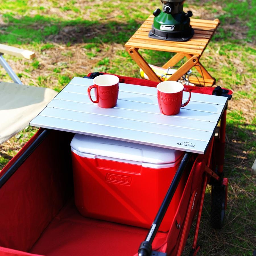 MAULBEERE/マルビーレ FOLDING TABLE サンドベージュ アウトドアキャリーワゴン用 折り畳みテーブル 超軽量1.6Kg 汎用 アウトドアワゴンテーブル キャリーカート maulbeere 05