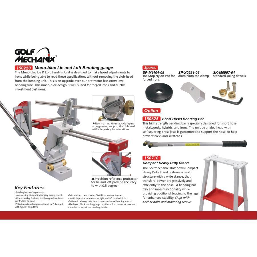 K-150210 Golfmechanix アイアン ロフト&ライ角 ベンディング測定・調整工具フルセット