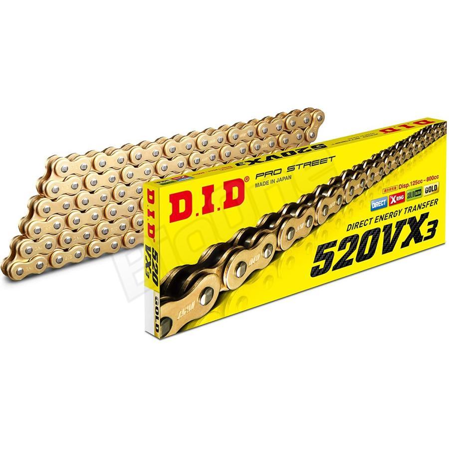 DID 520 DZ2 Chain 120 Links Gold