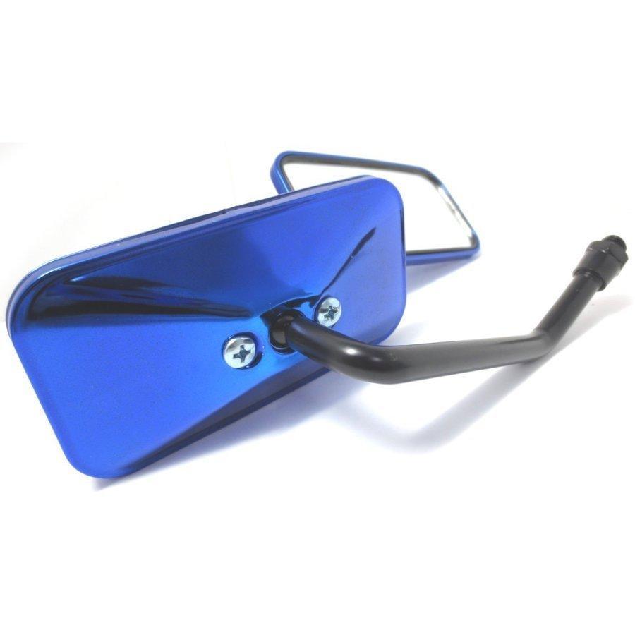 バイクミラー メッキミラー 左右セット 凸面鏡 汎用 10mm M10 カワサキ ホンダ スズキ バイク ミラー 鏡 オートバイ スクエア サイドミラー カスタム用品 maximaselect 20