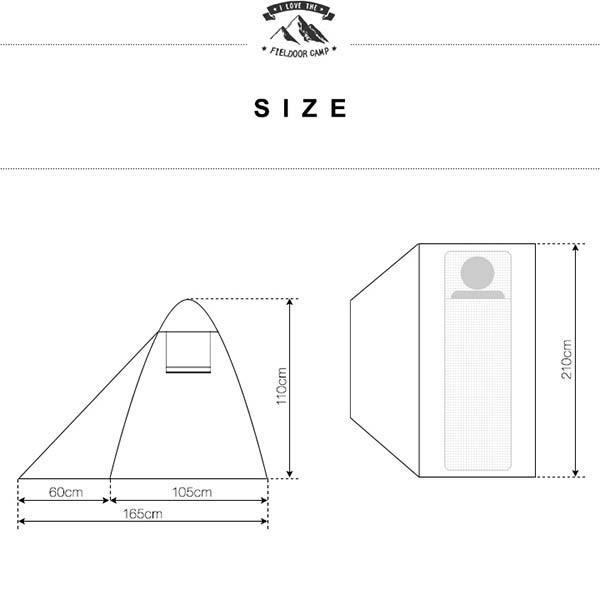テント ソロテント 一人用 キャンプテント ソロキャンプ ドーム型 おしゃれ メッシュ フルクローズ キャノピー ツーリング バイク 小さい FIELDOOR 送料無料|maxshare|04