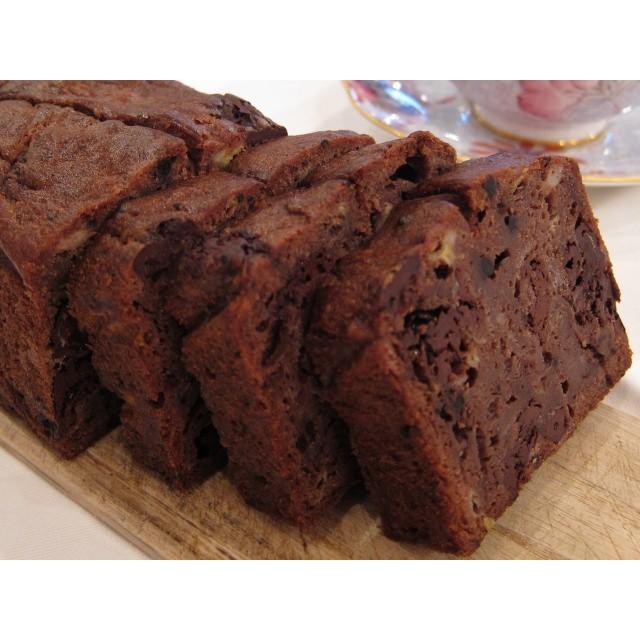 【バナナチョコケーキ1本】要冷蔵、上質なビターチョコレートをたっぷり入れたバナナのパウンドケーキ、プレゼントにも人気|mayfair-net