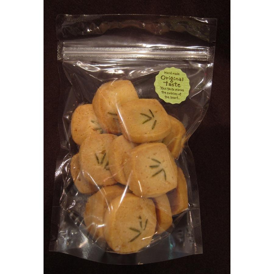 【ローズマリーのクッキー(15枚入り)】自家栽培、無農薬のローズマリーをのせたクッキー、ミネラルたっぷりのきび砂糖と佐渡の海洋深層水の塩を使用|mayfair-net|02