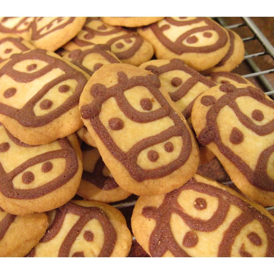 【うしさんクッキー】チョコレートで2021年の干支の牛を描いたクッキー、ミネラル豊富なきび砂糖と塩を使用|mayfair-net