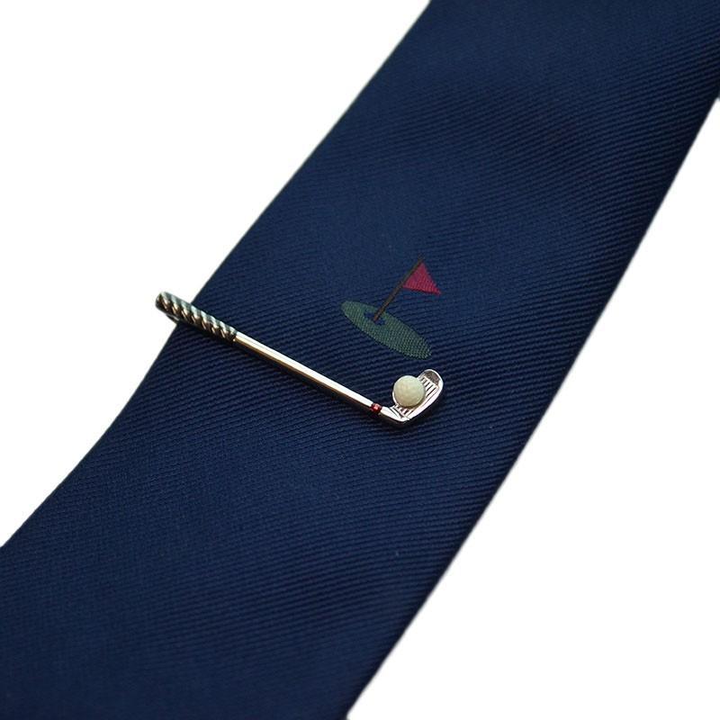 タイピン&ネクタイセット06(ゴルフ) WEB会議 テレワーク 新春 新社会人 父の日 入学式 ギフト プレゼント SWANK|mays-jewelry