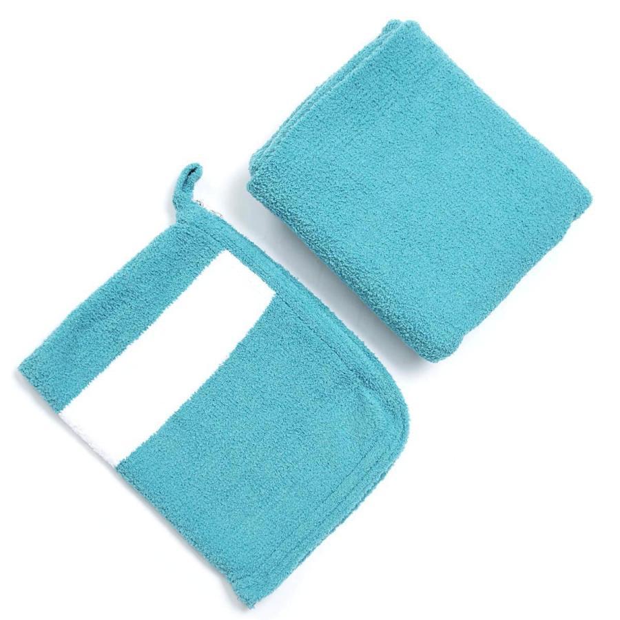 カシウエア Kashwere トラベルブランケット ポーチ付きミニブランケット ブルー tbb-02-140-348-aquarelle-白い