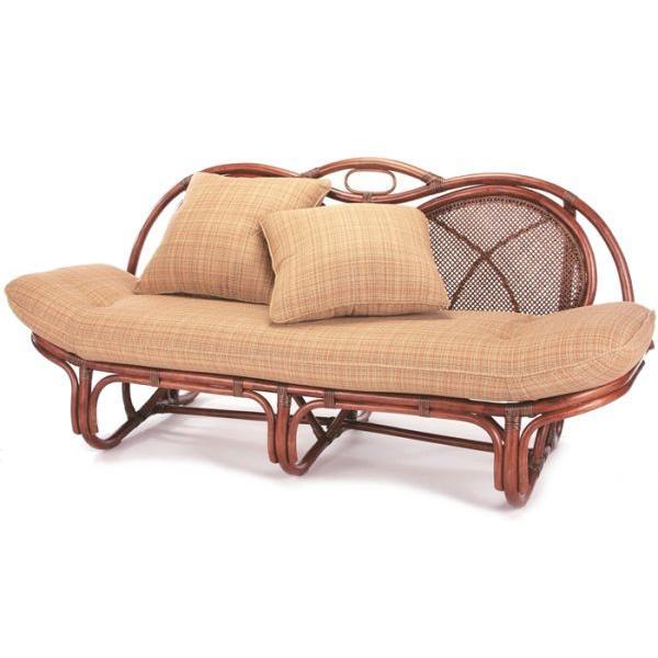 カウチ 籐カウチソファ A-160D(B) ラタンカウチ 小サイズ 長椅子 1人寝椅子 2人座り 寝ころび くつろぎ ヘッドレスト 和風 アジアンテイスト