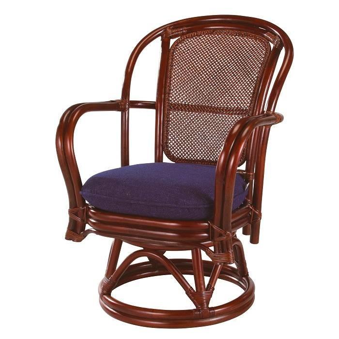 籐回転椅子 ラウンドチェア 尾州回転座椅子 A-230MD ラタン回転椅子 籐ラウンドチェア 籐ラウンドチェア ラタンラウンドチェア ミドル クッション選択