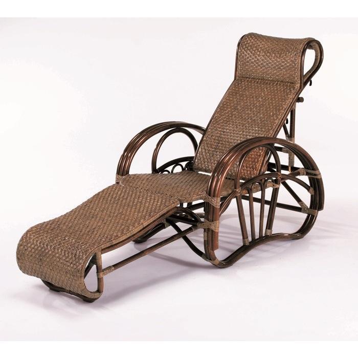折り畳み三つ折れ寝椅子 リクライニングチェア C-102CN 折り畳み式椅子 折り畳み式寝椅子 折り畳み椅子 三つ折れチェアー 市松編み ラタン