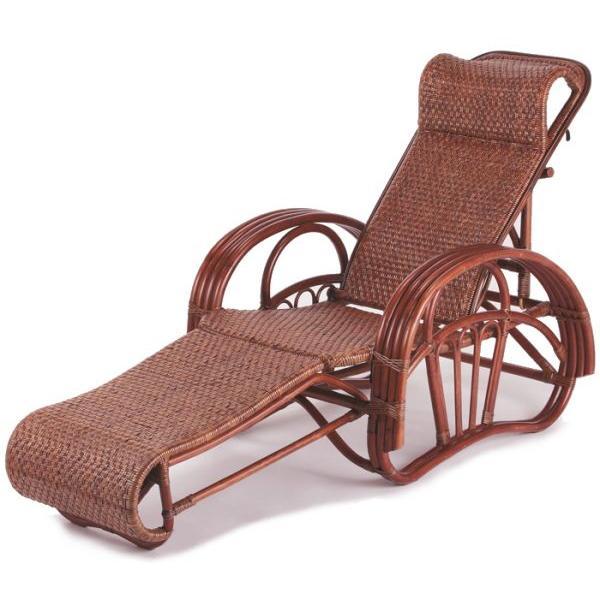 折り畳み式寝椅子 リクライニングチェア C-106D 折り畳み式椅子 折り畳み椅子 三つ折れチェアー 三つ折れ寝椅子 市松編み 籐 ラタン