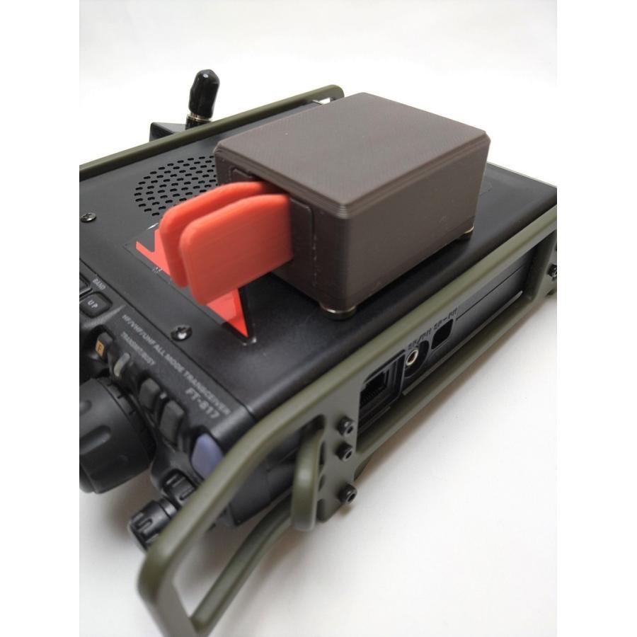軽量ミニパドル CW移動運用 強力固定マグネット付(ミニプラグコード付属)電鍵 ブラック Club FT-817/FT-818|mccoywje|02