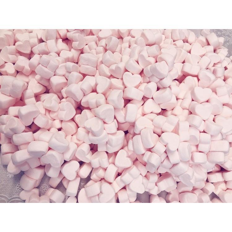 ハートマシュマロ ピンク 送料無料 (5千円以上) お菓子作り 製菓材料 トッピング 業務用 コラーゲン BBQ 保存料 卵不使用 お子様に 安心 mcluney-marshmallow 04
